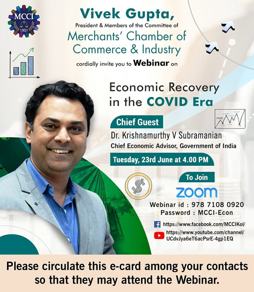 Webinar with Dr. Krishnamurthy V Subramanian