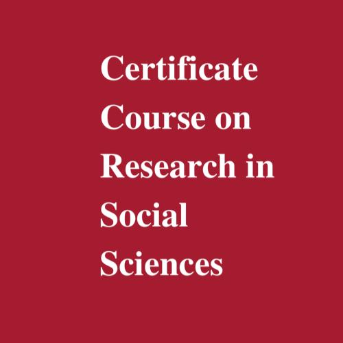 certificate course on research in social sciences